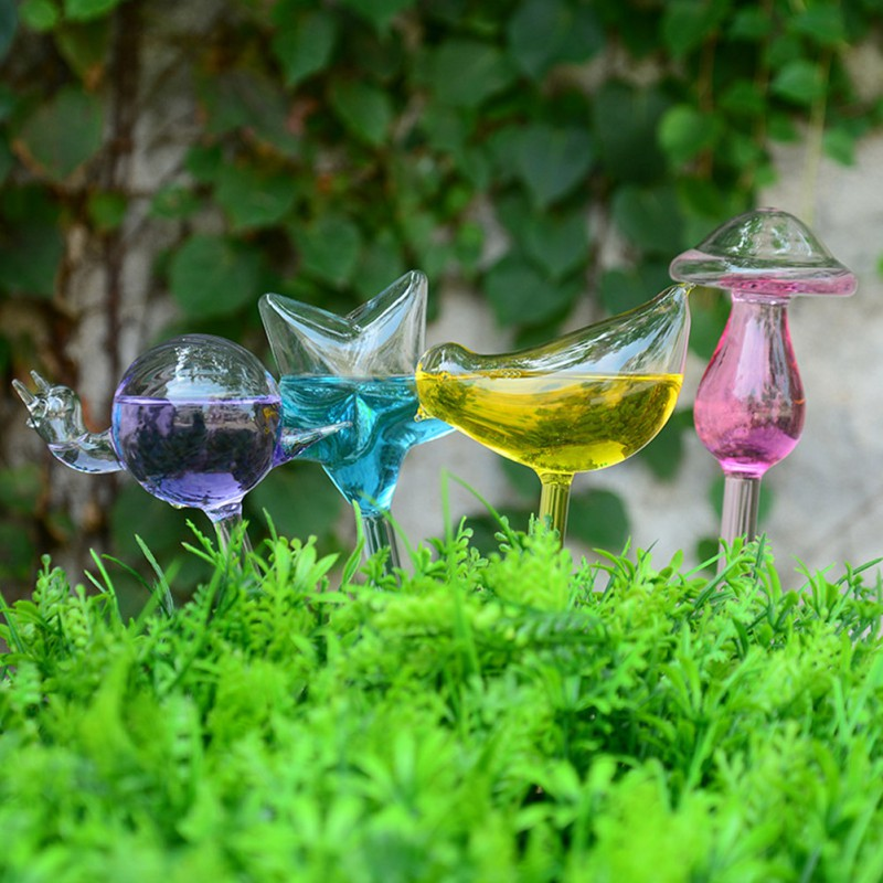 6 Styles House/Garden Houseplant Automatic Self Watering Glass Bird Watering Cans Flowers Plant Decorative Glass Watering
