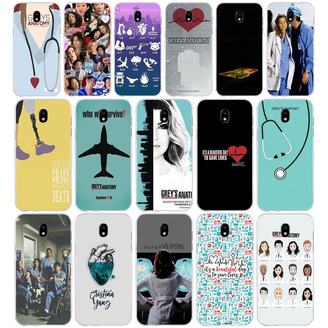 19SD Grays Anatomia da TV Americana Macio Tpu Silicone Case Capa do telefone para Samsung 17 j2 j3 j5 j7 2015 16 j6 j4 prime Plus 2018