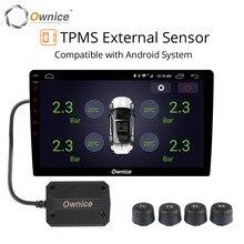 Ownice USB Android TPMS monitoraggio della pressione dei pneumatici di monitoraggio della pressione di navigazione Android sistema di allarme senza fili di trasmissione TPMS