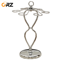 ORZ Wine Glass Cup Holder Metal Champagne Stemware Storage Rack Goblet Glass Hanger Stand Bar Storage