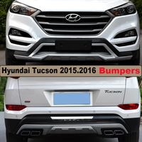 Бампера Протектор Гвардии Пластины Для Hyundai Tucson 2015.2016.High Качество Brand New ABS Фронтальный + Тыловой Бампер Автомобиля Аксессуары