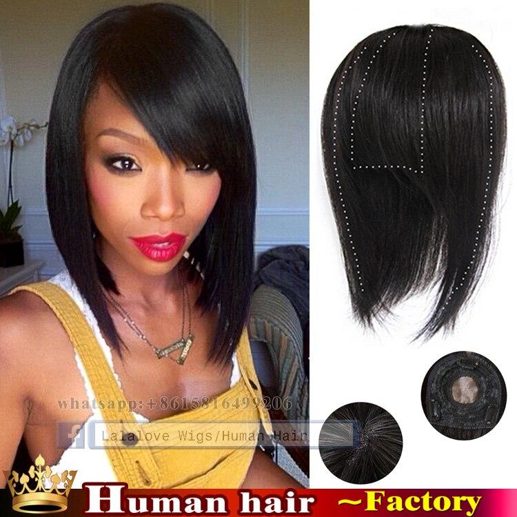 Straight Weave Hairstyles Side Bangs