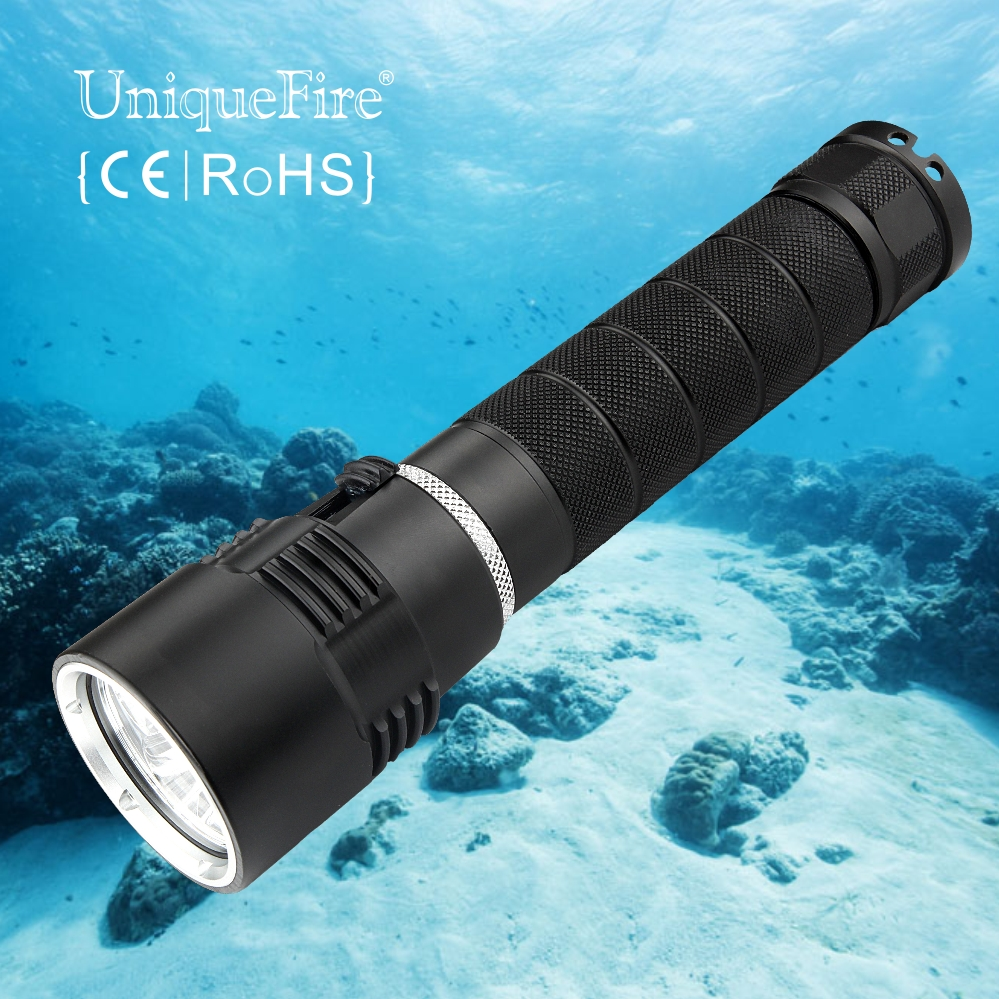 ФОТО 2017 New LED Waterproof Torch Lantern Lighting Light Underwater Diving Flashlight Torch Portable Lamp For Hunting Camping Diving