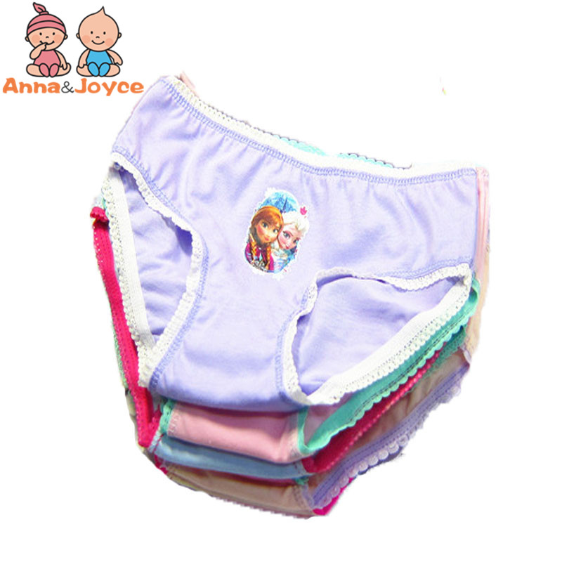 5pcs/lot  Girl Panties Briefs Girls Underwear Kids Underwear Briefs For Girls 3--12 Years TNN0003