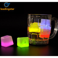 LeadingStar Set Of 12PCS Assorted Color Glow Ice Cube Light Up Toy For Parties Bars Festival