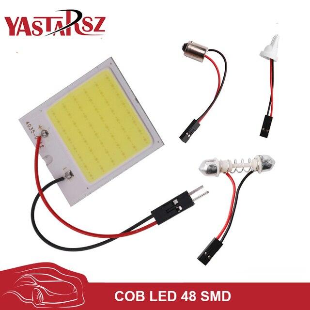 c5w cob 48 SMD chip w5w super White Reading Lamp led dome t10 Bulb led Car parking Auto Interior Panel Light Festoon car styling