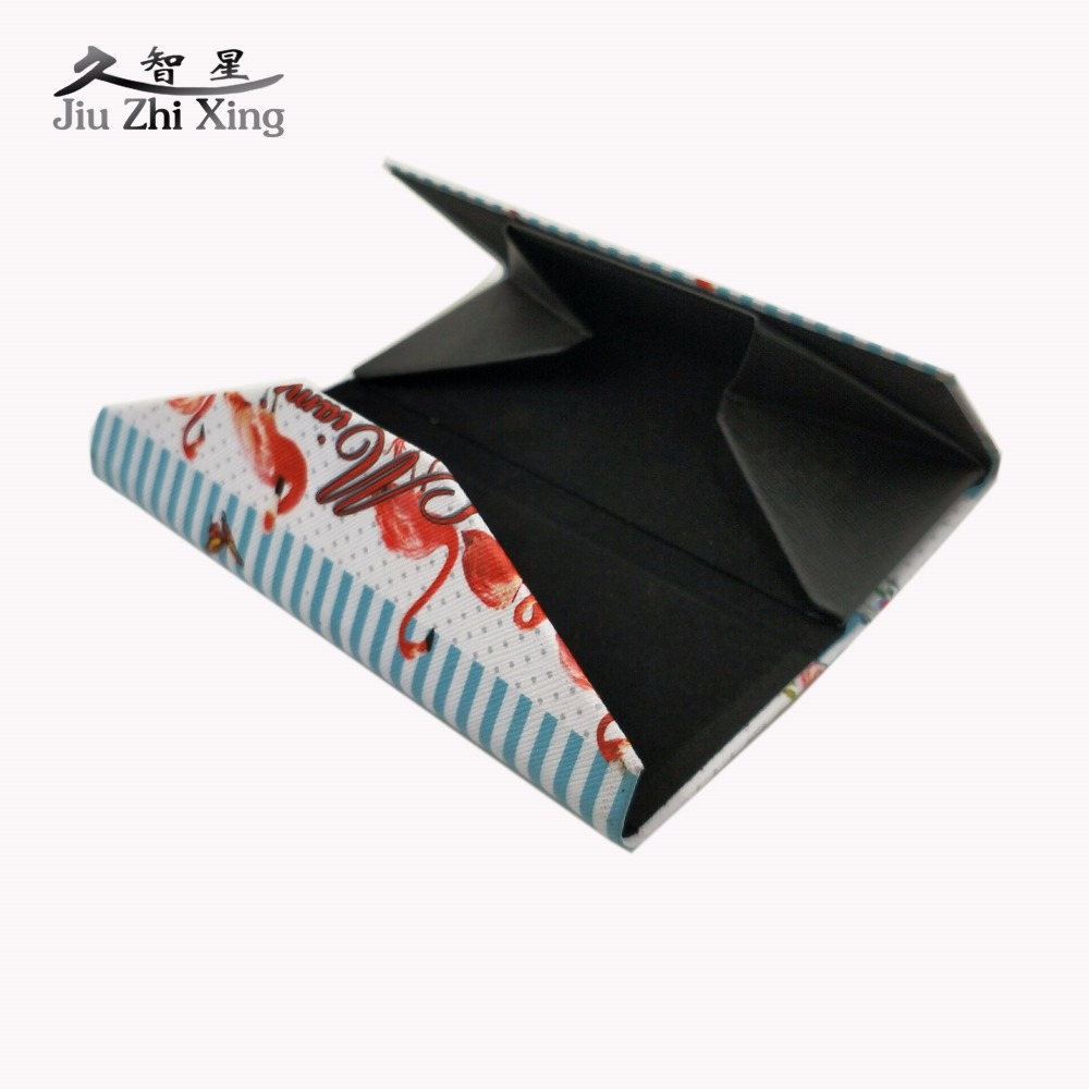 JIU ZHI XING 2017 Hot Triangle Folding Sunglasses Case Handmade Brand Design Custom Easy Take Spectacle Glasses Box in Eyewear Accessories from Apparel Accessories