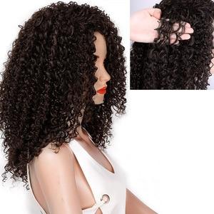 Image 2 - Волосы AISI, 16 дюймов, темно коричневые, афро, курчавые, синтетический парик для женщин, термостойкие, африканские, пушистые волосы, парики