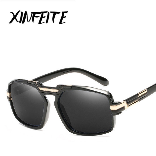 795ab1426 XINFEITE 2018 New Steampunk Alta Qualidade Masculino Feminino Sun-óculos  Retro óculos de Sol Transparentes