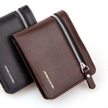 Бумажник, монету верх кармана держателя известный молния бизнес короткие кошелек мягкий