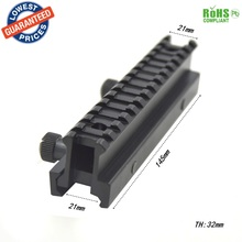 1pc D0021 Tactical Hunting Gun Scope Extent Mount Picatinny Weaver RIS 20mm to 20mm Standard adapter Metal Rail Mount Base
