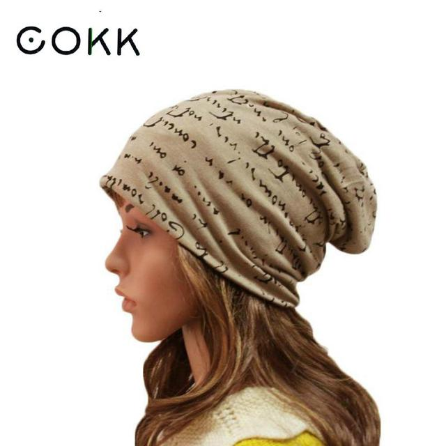 5fc26a96dac1b COKK Winter Male Caps Female Letter Beanie Knitted Cap Skullies Beanies Hip  Hop Stocking Hat For