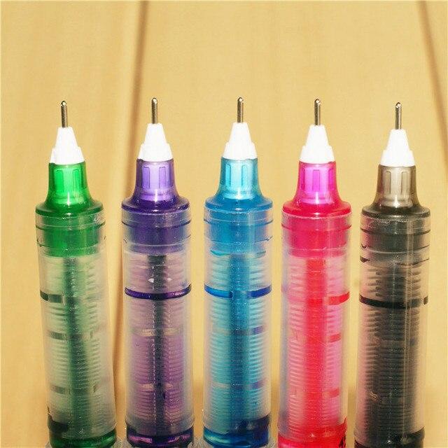 1pc 0.5 Needle type straight liquid type ball pen color pen water Gel Pens