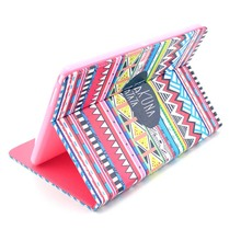 Print Stand Card Slots Holder Protection PU Leather Case For Samsung Galaxy Note 10.1 2014 P600 P601 Multi Wallet Shell Cover
