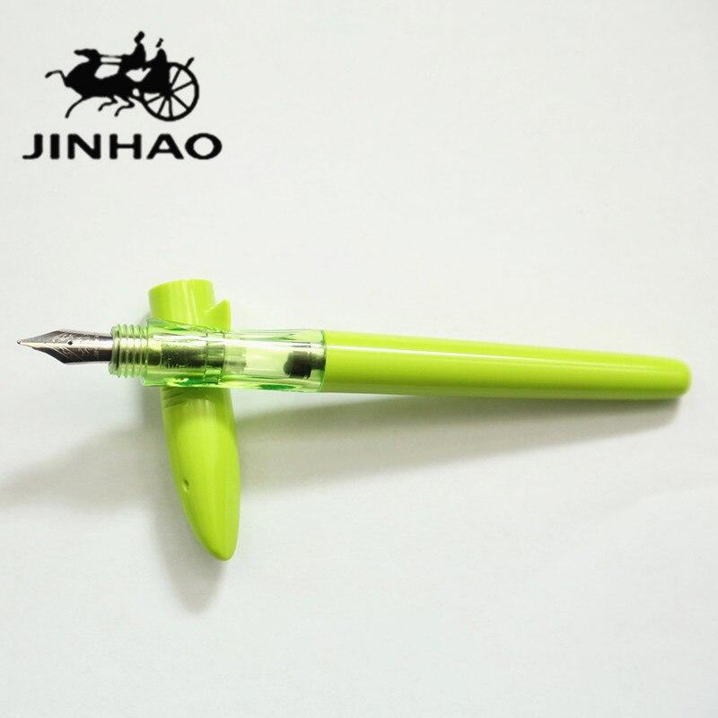 1 шт./лот полный зеленый Акула Jinhao авторучка Акула Перьевые ручки Jinhao ABS канцелярские 0.5 мм студенты подарки canetas 15.3 см