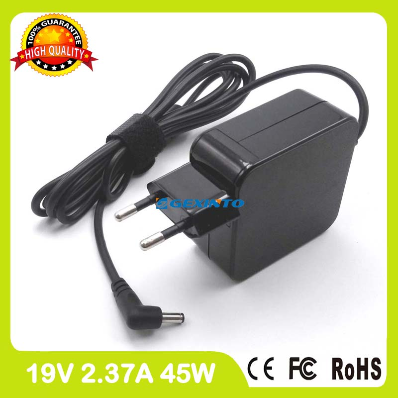 19V 2.37A 45W ac power adapter laptop charger for Asus F201E F202E F553M K200MA Q200E Q302L Q302LA EU Plug