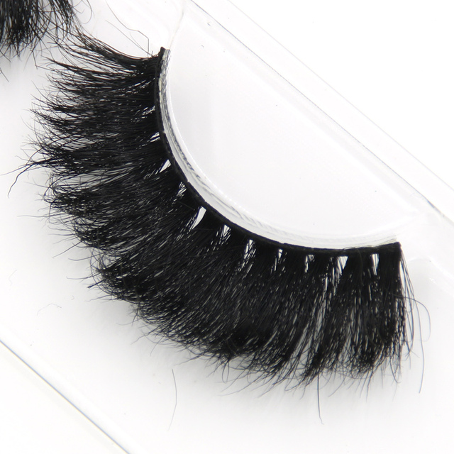 YOKPN 100% Mink False Eyelashes Models Naturally Messy Bushy False Eyelashes Fashion True hair Cross False Eyelashes Makeup tool 3