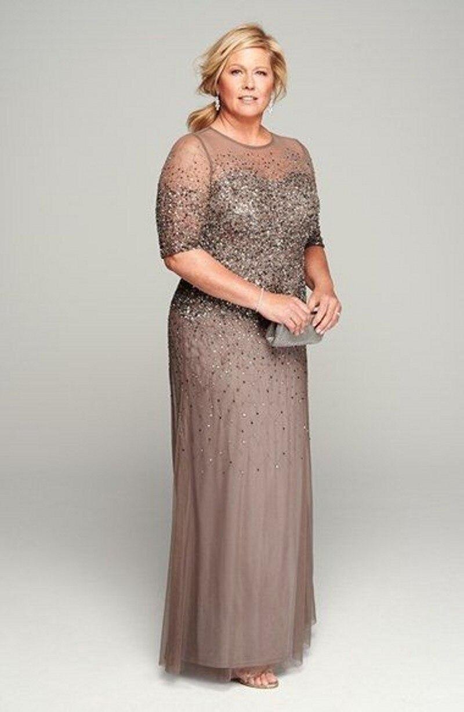 Plus Size Maxi Vestido Lace Mother Bride Dress Suits With Tulle - Plus Size Jacket Dress For Wedding