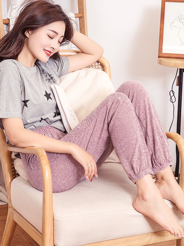 Mianziduo 2019 New Fashion Women's Sweatpants High Elasticity Free Shipping Good Quality Leggings Cotton Woman Pants Streetwear