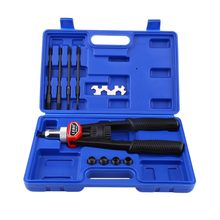 Set Of Hand Nut/Thread Riveter Gun Kit Tool Rivet Gun with Nosepieces 5mm, 6mm, 8mm, 10mm, 12mm(China)
