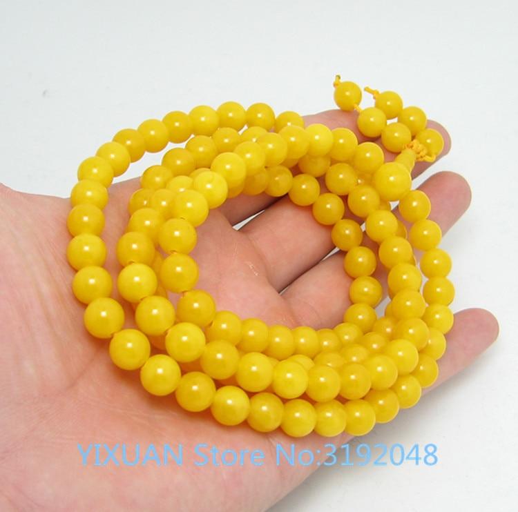 TNUKK bracelet en pierre naturelle ambre 108 vieux miel jaune huile de poulet perle bracelets pendentif pour hommes et femmes.