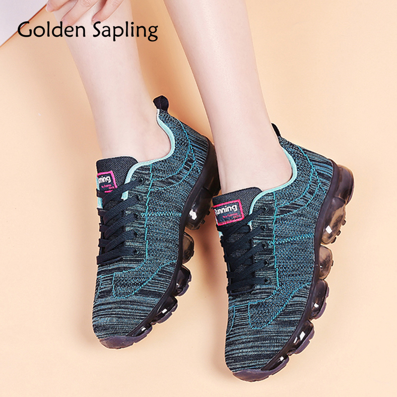 Golden Sapling Air Cushion Running Shoes for Women Breathable Sneakers Woman Sports Female Trainer Sneakers Women's Sport Shoes akexiya 2018 sport shoes woman sneakers red ladies running shoes air cushion outdoor athletic female shoes sports basket femme