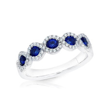 SHART Cross Fashion Blue Zircon Crystal Promise Wedding Band Rings Womens Party Bruiloft Sieraden(China)