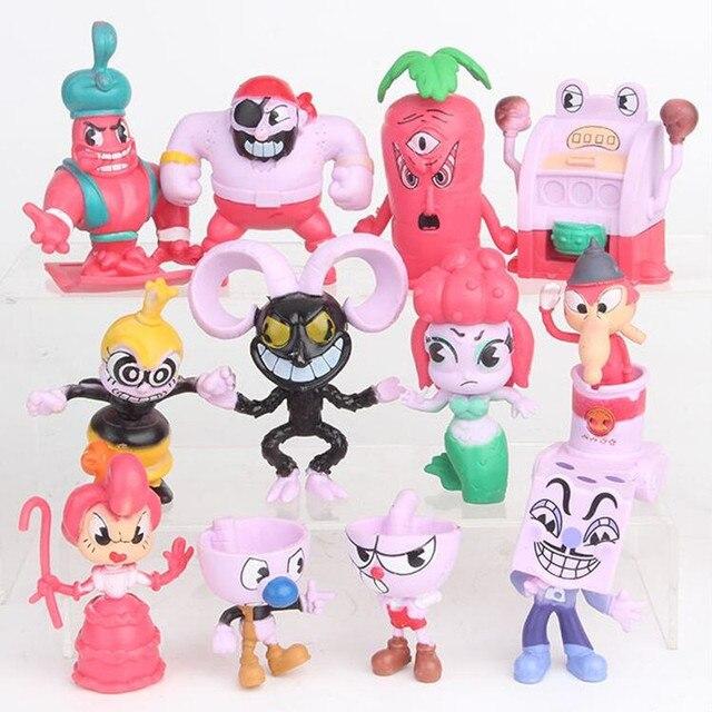 12 Unids Set Kawaii Cuphead Figura Juguetes Juego Personaje Figura