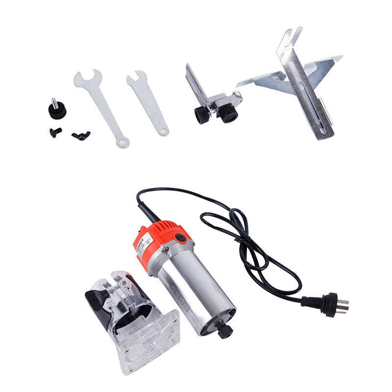 220V 650W Router Wood Trimmer Electric Hand Trimmer Motor Carving Machine Carpenter Woodworking Slotting Trimmer Power Tool