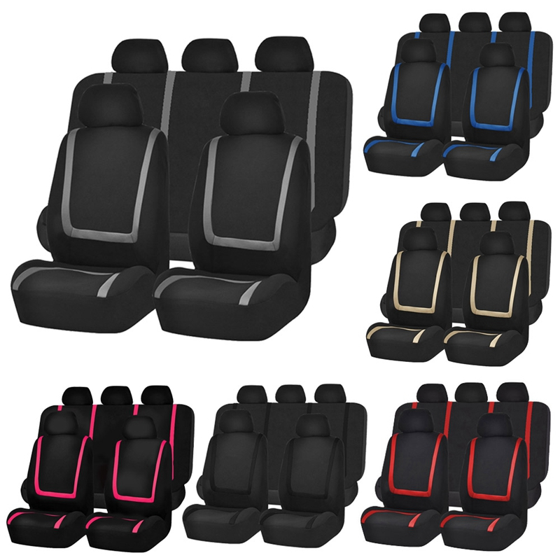 GKMHiR Universal Car Seat Covers Protector Polyester Fabric Seat Cover Automobiles Seat Covers Automobiles Car Seat Protector