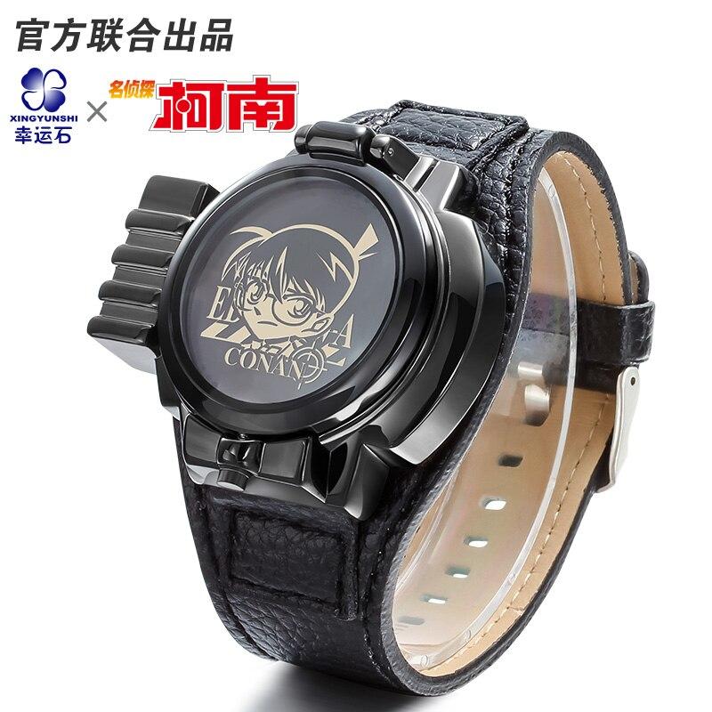 64066518c58b  Detective Conan láser cubierta Anime reloj impermeable Manga papel relojes  Cosplay de personaje de dibujos