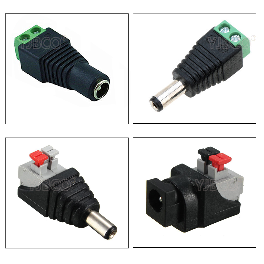 Free Shipping 5pcs DC Connector For LED Strip Free Welding LED Strip Adapter Connector Male Or Female Connector