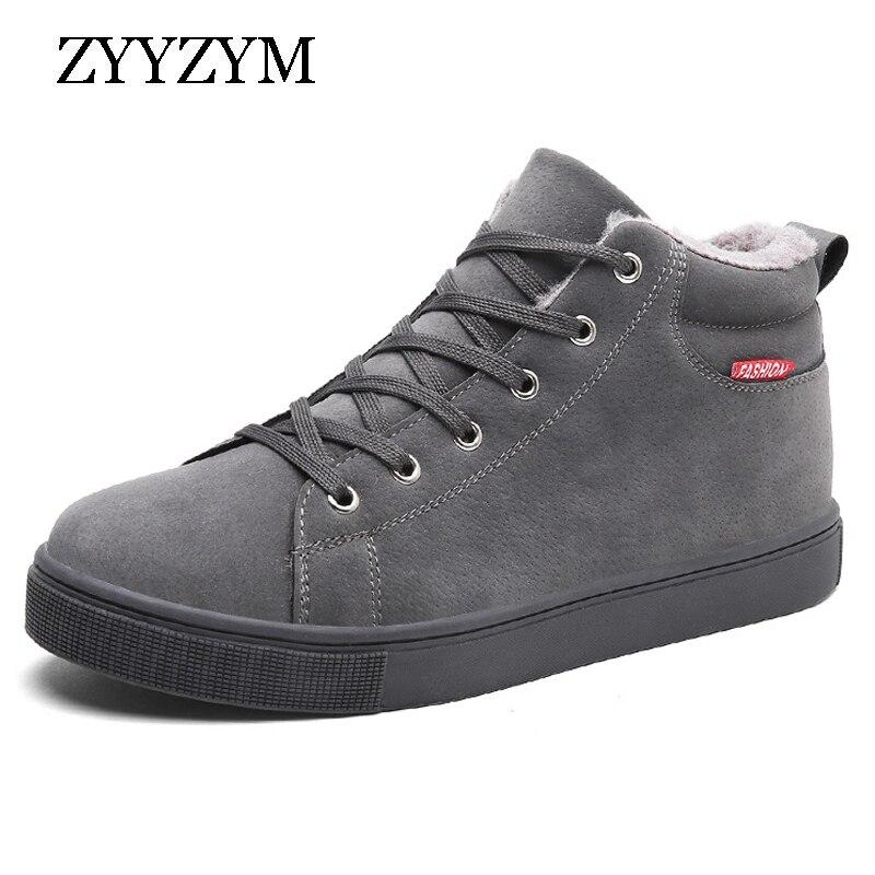 цена ZYYZYM Men Boots Winter Plush Keep Warm 2018 Classic Hot Sales Non-slip Fashion Snow Boots Russian style Boots Men онлайн в 2017 году