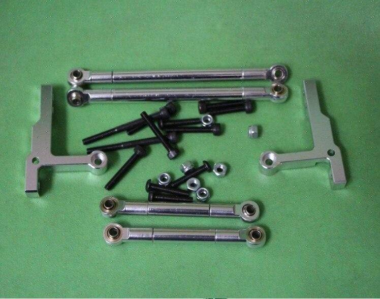 Alloy Push Rod Set For Tamiya CC01 Pajero Jeep Silver 1 10 cc01 pajero jeep wrangler tie rod end metal tampa tamiya tamiya