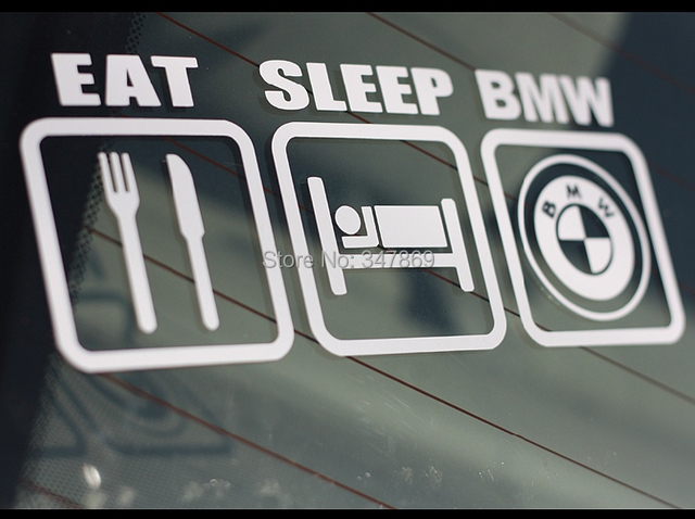 Pcs Cm X Cm Eat Sleep Funny Car Decal Sticker Motocross For - Bmw car decals stickers