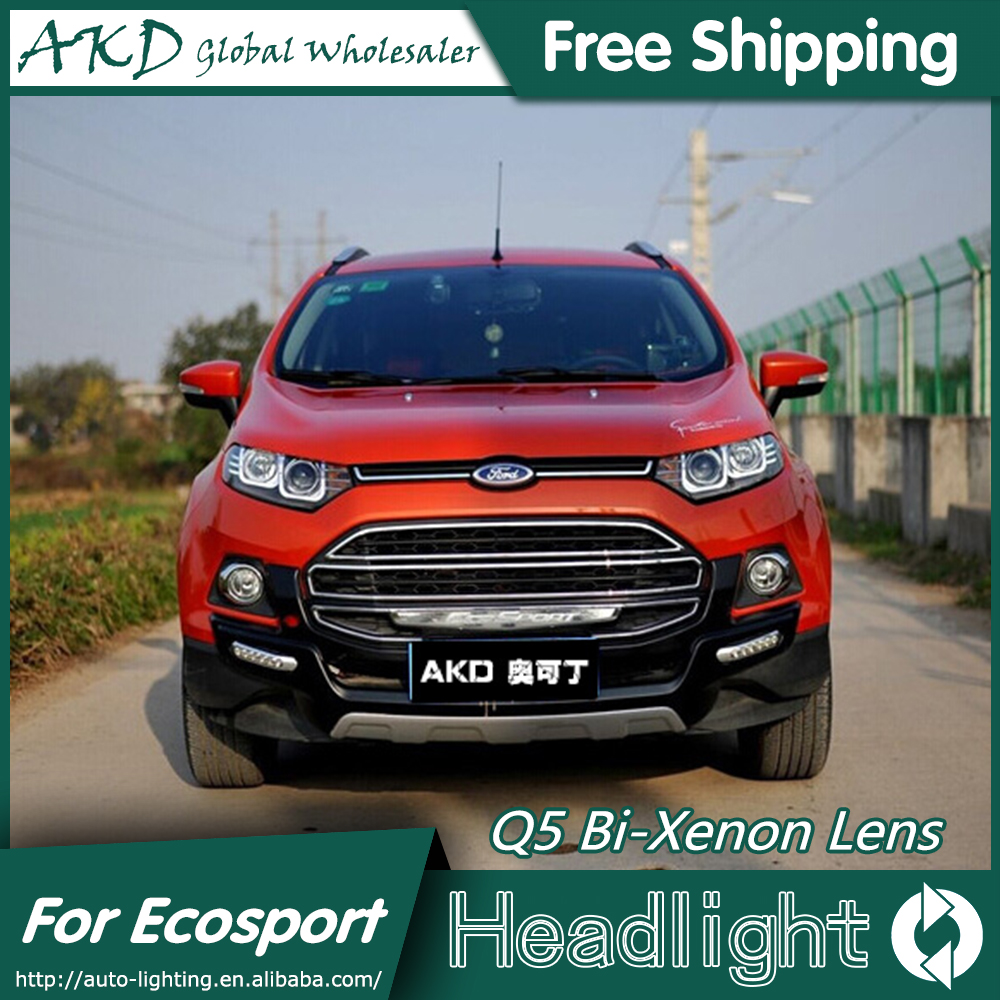 AKD Car Styling for Ford Ecosport Headlights 2014 2015 Ecosport ...