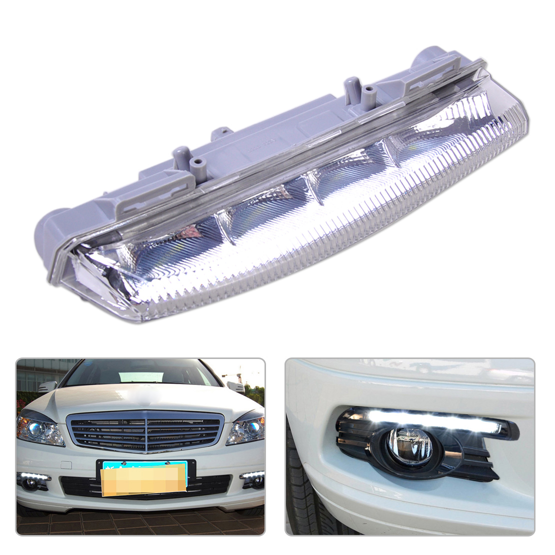beler High Preformance 1Pc DRL Fog Light Lamp Right 2049069000 204 906 90 00 Fit for Mercedes Benz W204 W212 S204 R172 1 pcs right side 2048202256 front fog lamp with bulb bumper light for mercedes benz c class w204 2006 2011