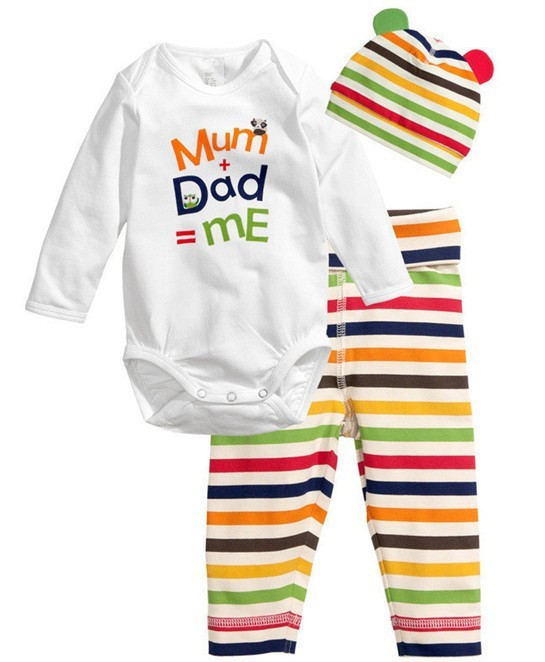 1c91ea6b5 New Baby Girls Boy Pajamas Cotton Bodysuits Nightclothes Climbing ...