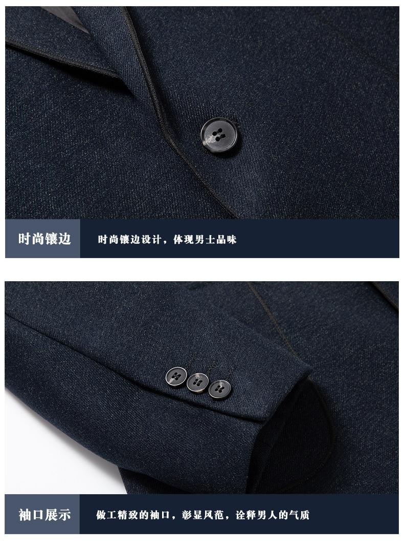 e8c5344efc ... WAEOLSA Elegance Man Slim Fit Blazer Navy Blue Suit Coat Men Smart Casual  Blazers Masculino Uniform