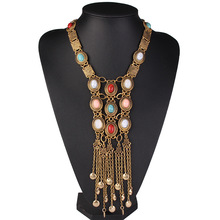 Multicolor Stone Boho Necklaces