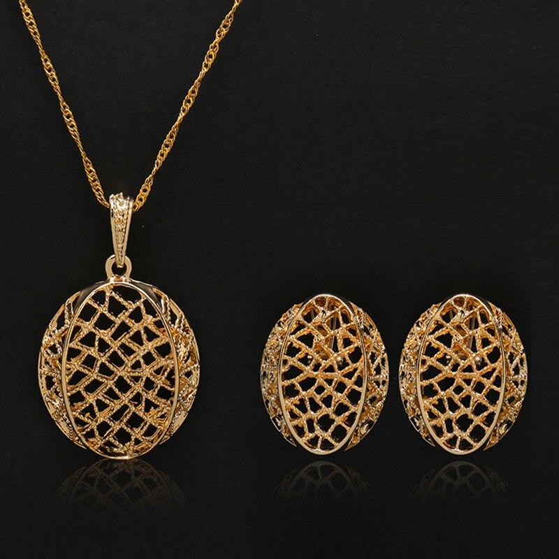 Trendy Daily News: 2019 Nigeria Trendy New Geometric Jewelry Sets Necklace