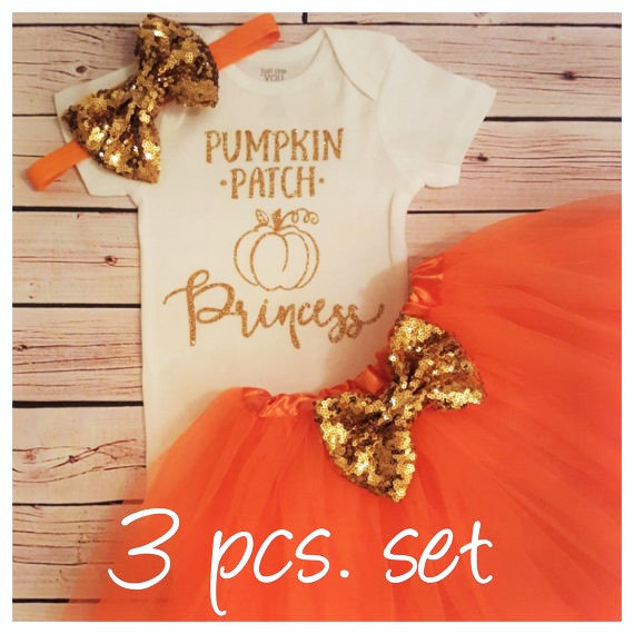 Custom Pumpkin Patch Fall Baby Shower 1st 2nd Birthday Bodysuit Onepiece Shirt Tutu Dress Romper Outfit