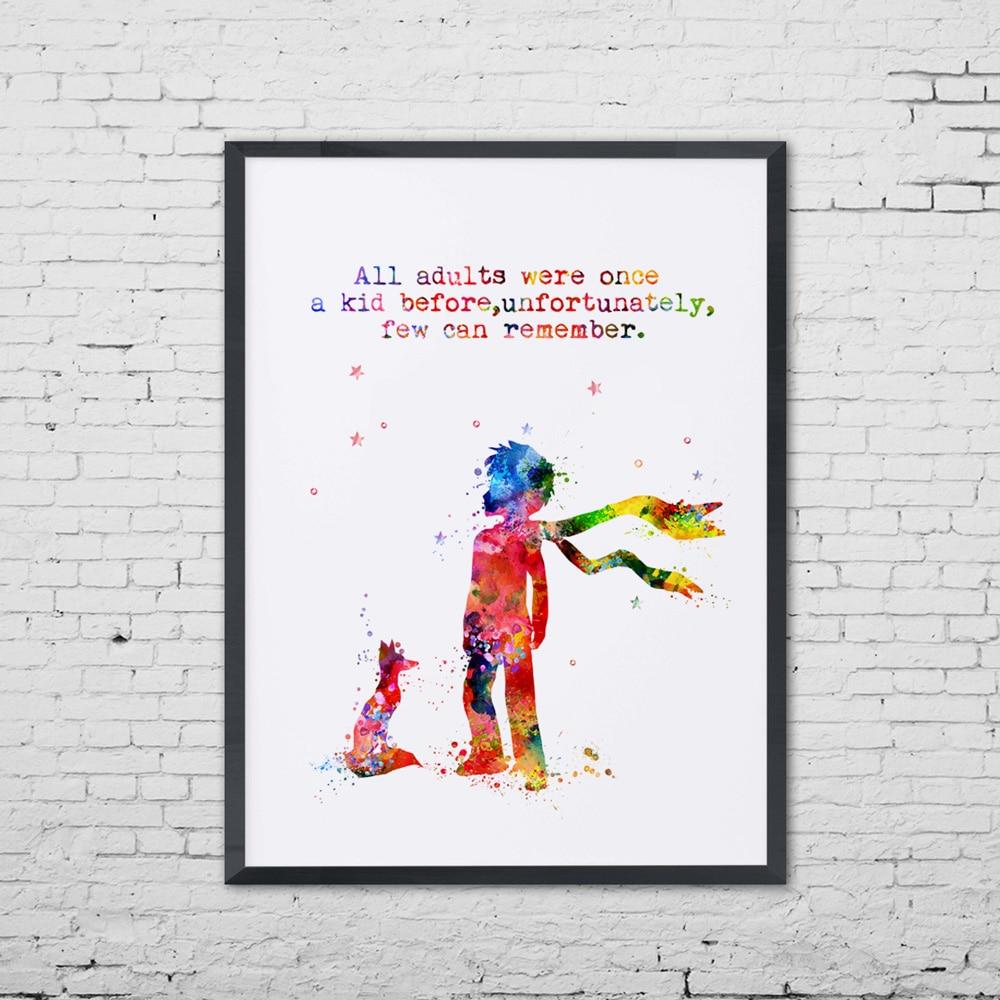 Divar İncəsənət Çapından əvvəl Bütün Yetkinlər Bir Kid - Ev dekoru - Fotoqrafiya 3