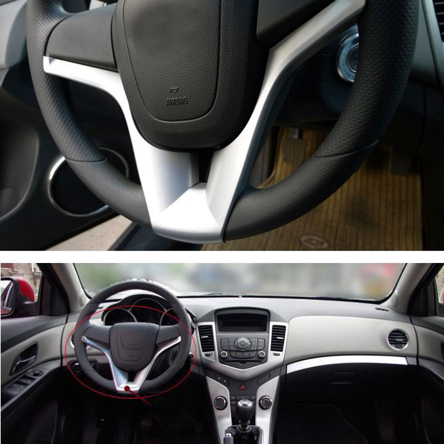 1Pc Silver Interior ABS Car Steering Wheel Cover Decor Trim For Chevrolet  Cruze 2010 2014 In Interior Mouldings From Automobiles U0026 Motorcycles On ...