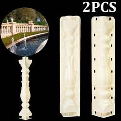 2 pces 70*18 cm coluna romana molde cerca molde de cimento varanda jardim trilhos gesso molde concreto fundição de plástico guarden edifício