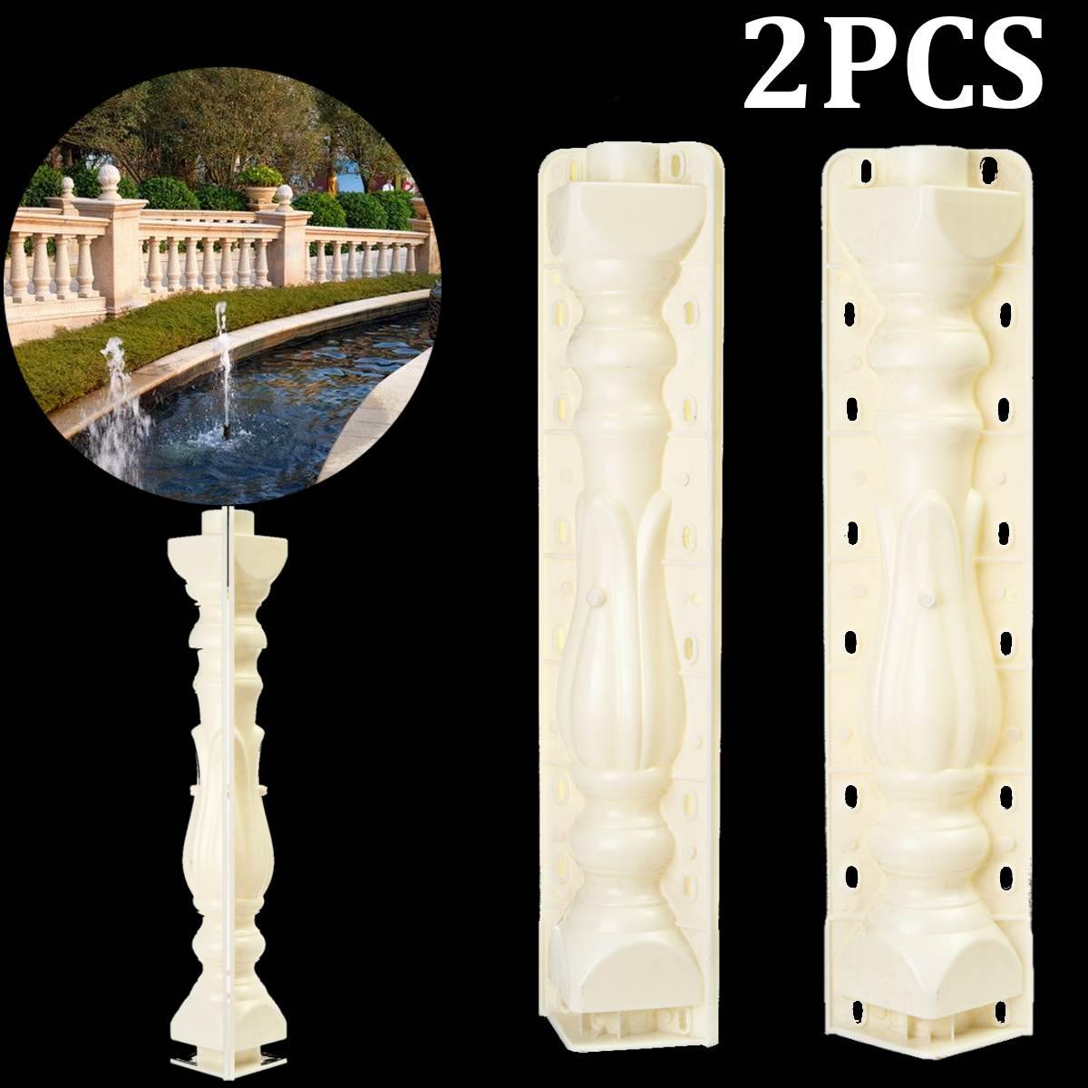 2Pcs 70 18 cm Roman Column Mold Fence Cement Mold Balcony Garden Railing Plaster Concrete Mold Plastic Casting guarden Building