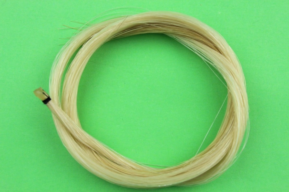 5 hanks Horse Hair White Horse Tail Hair Violin Bows Hair 80-85 cm