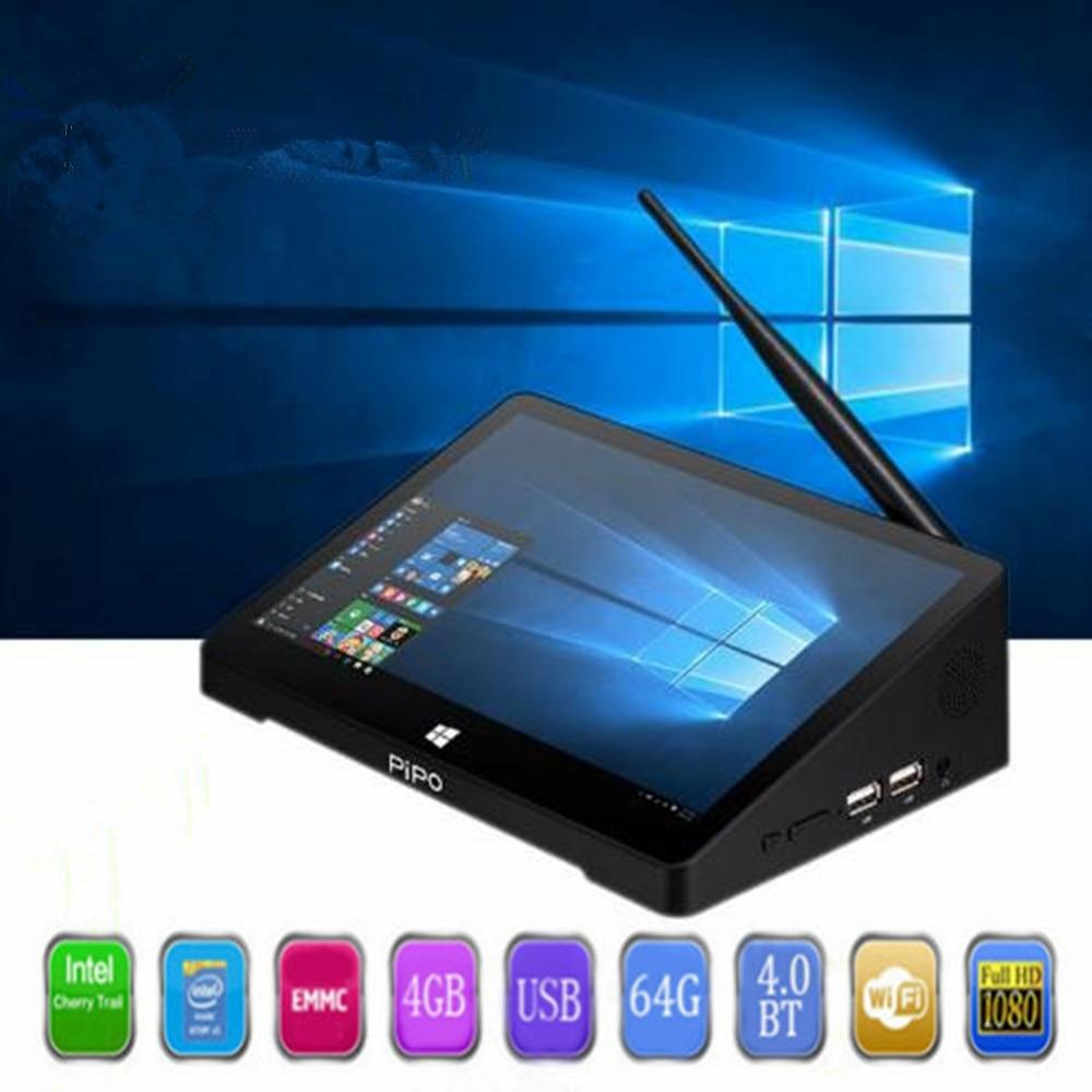 PIPO X10 pro Mini PC Windows 10 & Andriod 5.1 Mini PC Intel Cerise Sentier Z8350 4g 64g 10.8 pouce Tablet PC 2.4g WiFi Media Player