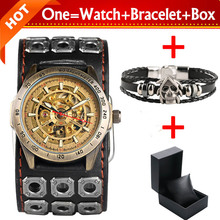 reloj de horloge cuir