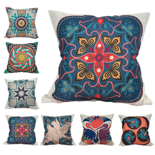 CURCYA Abstract Geometric Flowers Cushion Covers Decorative Art Birds Throw Pillow Covers Sofa Square Pillowcase casio часы casio mrw 200h 2b2 коллекция analog